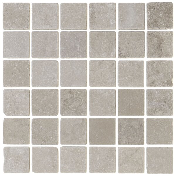 Harrison 12 x 12 Marble Mosaic Tile in Silver Screen by Itona Tile