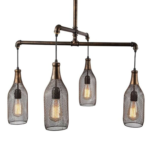 4-Light Kitchen Island Pendant by Urban Home Industrial