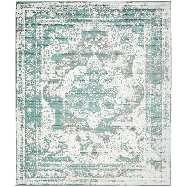 Brandt Turquoise Area Rug By Mistana.