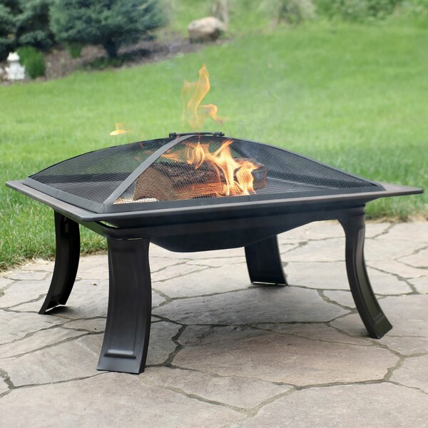 Campfire on the Go Steel Wood Burning Fire Pit by Wildon Home ®