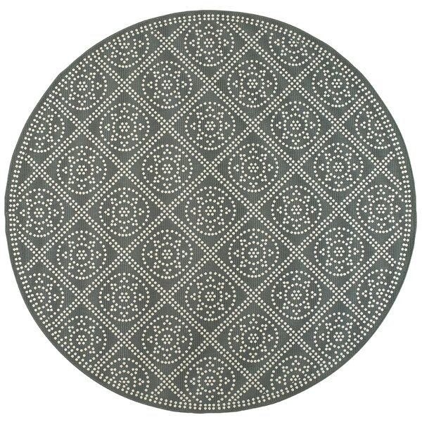 Wildes Casual Gray Indoor/Outdoor Area Rug by Bungalow Rose