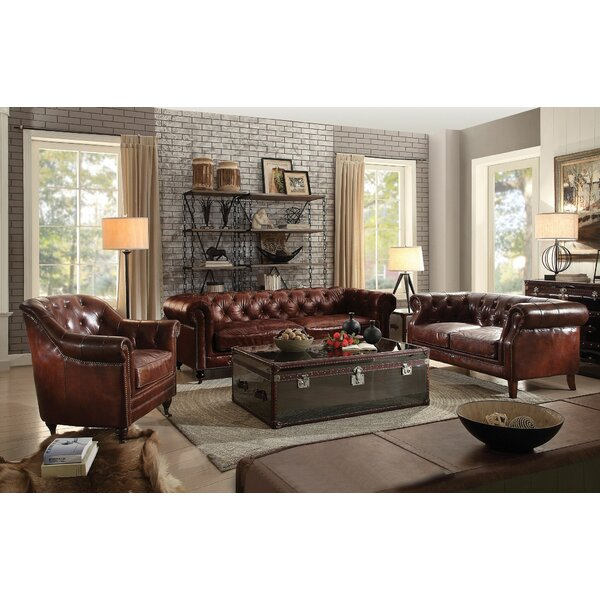 Drage 3 Piece Leather Living Room Set by Canora Grey