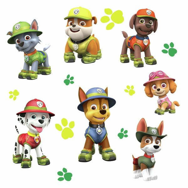 Paw Patrol Jungle Peel and Stick Giant Wall Decal by Room Mates
