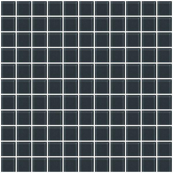 1 x 1 Glass Mosiac Tile in Dark Gray (Set of 2) by Susan Jablon