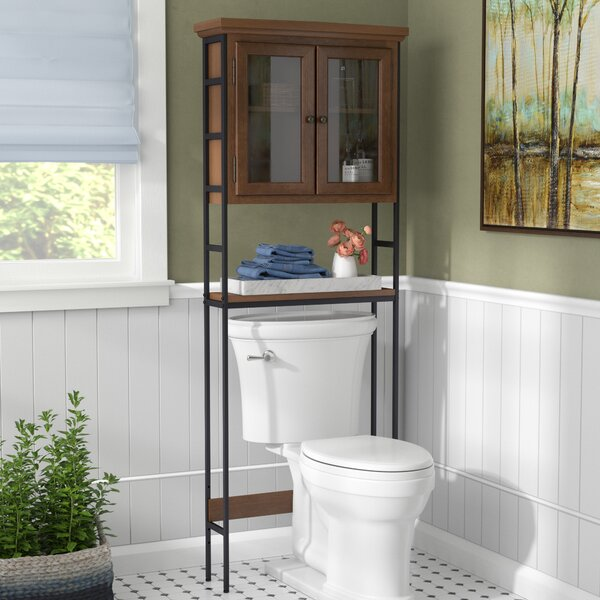 Foxborough 25.5 W x 67.5 H x 8 D Solid Wood Over the Toilet Storage