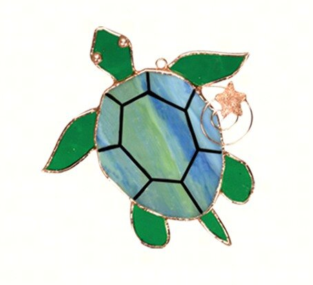 Petersfield Sea Turtle Suncatcher by Highland Dunes