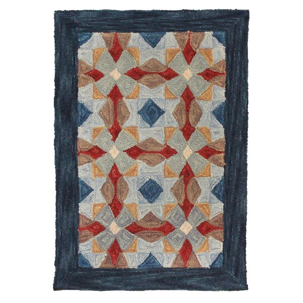 Cheryton Hand Tufted Wool Blue Area Rug by August Grove