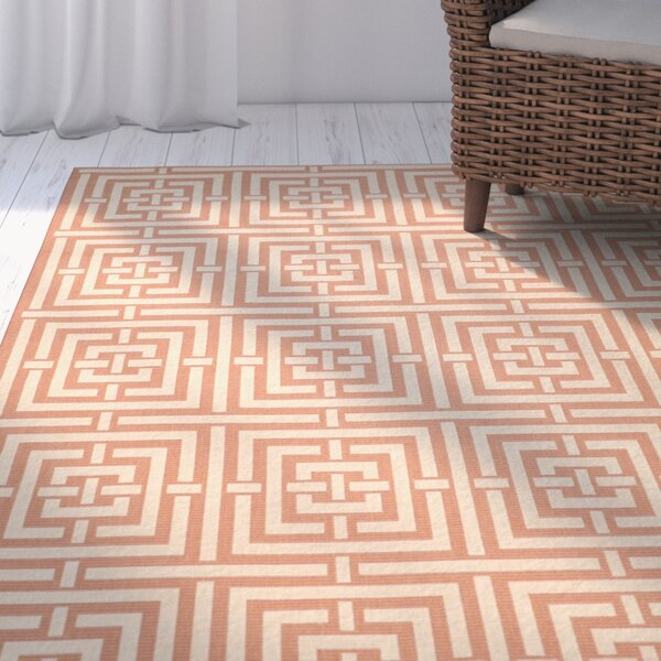 Romola Abstract Terracotta Rug by Highland Dunes