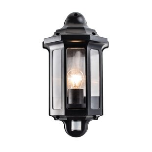Traditional 1 Light Outdoor Flush Mount With Motion Sensor