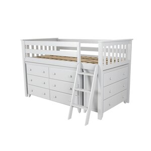 Twin Loft Bed with 2 Dresser