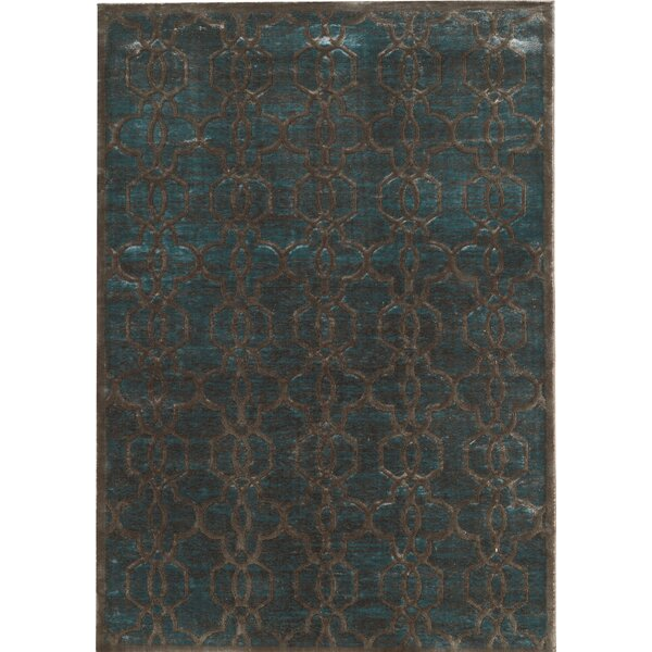 Beeston Blue/Brown Area Rug by House of Hampton