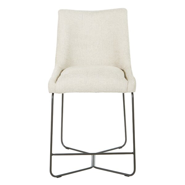 Gerstner Upholstered Metal Solid Back Side Chair by Gracie Oaks Gracie Oaks