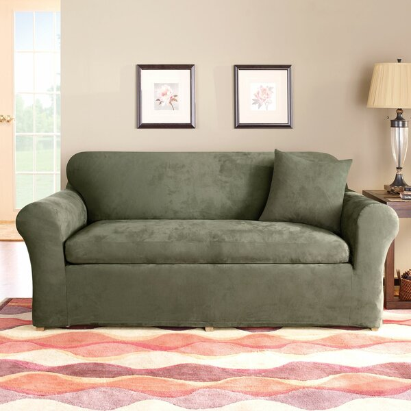 Stretch Suede Box Cushion Sofa Slipcover By Sure Fit Looking for