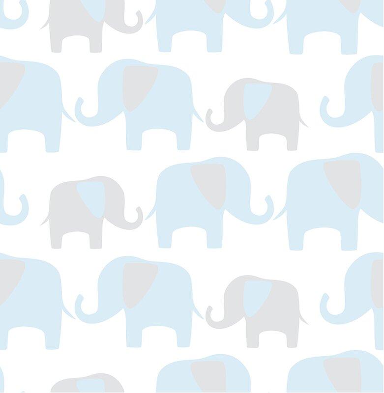 Wallpops Elephant Parade Peel And Stick Wallpaper