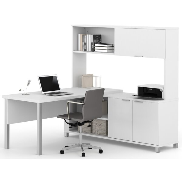 Ariana 3-Piece L-Shape Desk Office Suite by Mercury Row