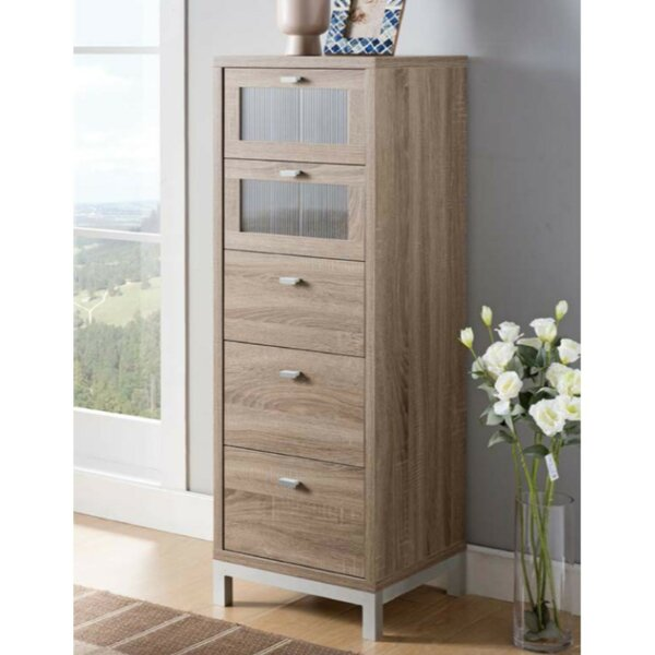 Hodge Utility 5 Drawer Chest by Wrought Studio