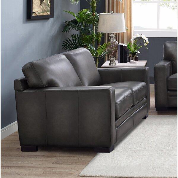 Drakeford Leather Loveseat By Brayden Studio