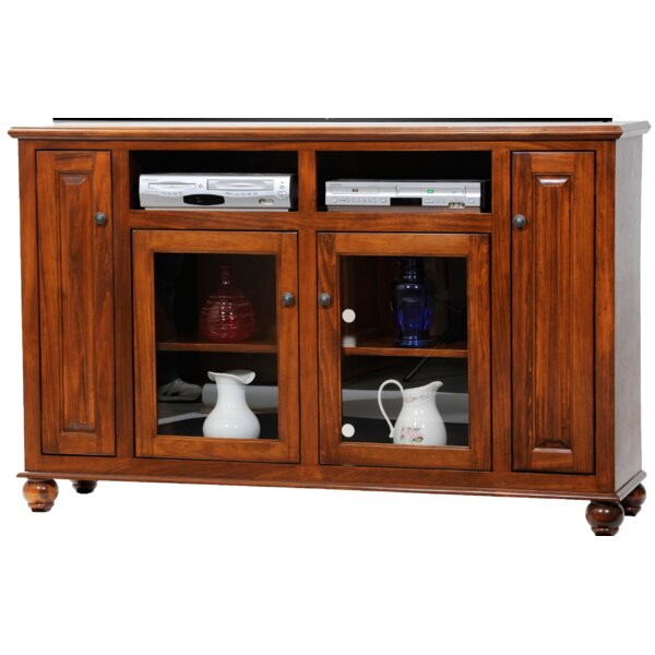 Spoffo Solid Wood TV Stand for TVs up to 75