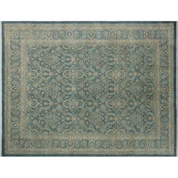 One-of-a-Kind Romona Hand-Knotted Traditional Blue/Gray Indoor Area Rug by Isabelline