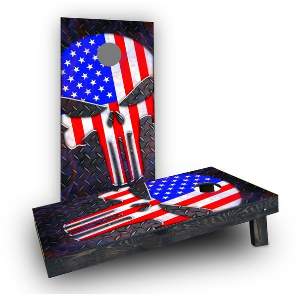 Punisher American Flag Cornhole (Set of 2) by Custom Cornhole Boards