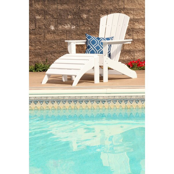 Strickland Plastic/Resin Adirondack with Ottoman by Breakwater Bay Breakwater Bay