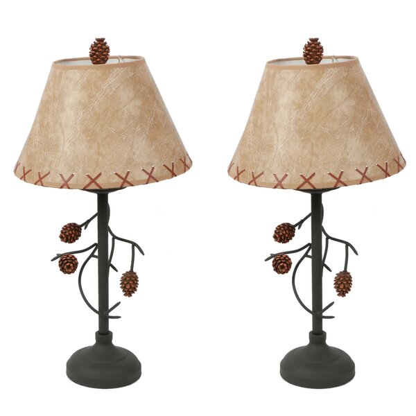 Pine Cone Branch 22.5 Table Lamp (Set of 2) by DEI