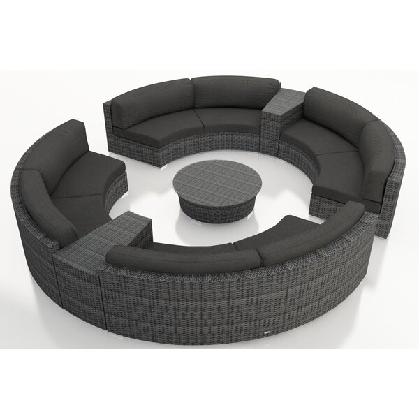 District 7 Piece Sunbrella Sectional Set with Cushions by Harmonia Living