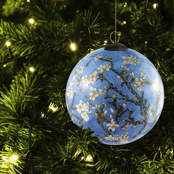Blossom Hand Painted Glass Ornament by La Pastiche