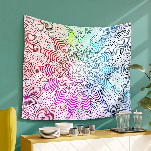 Rainbow Dots by Monika Strigel Wall Tapestry by East Urban Home