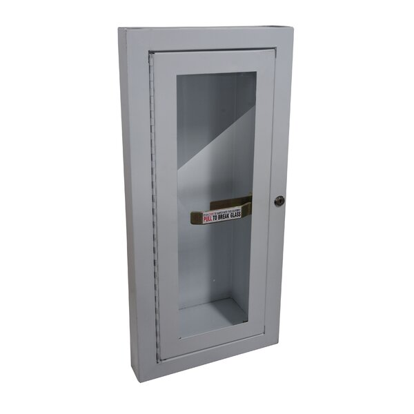 Semi Recessed Fire Extinguisher Cabinet By Buddy Products.