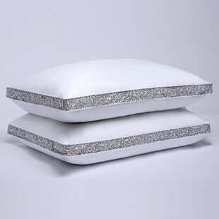 Ned Printed Gusset Medium Down and Feathers Pillow ByAlwyn Home