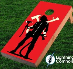 Fire Fighter Cornhole Board by Lightning Cornhole