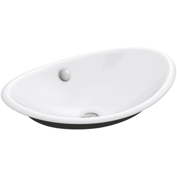 Iron Plains™ Metal Oval Vessel Bathroom Sink with Overflow by Kohler