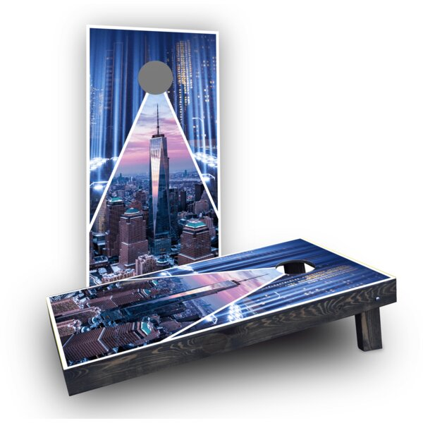 9/11 Tribute Light Weight Cornhole Game Set by Custom Cornhole Boards