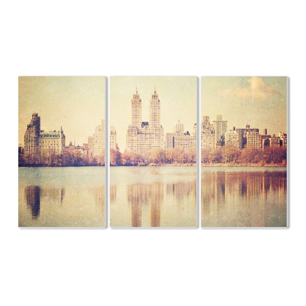 Central Park Overlook 3 peace Photographic Print Wall Plaque Set by Stupell Industries