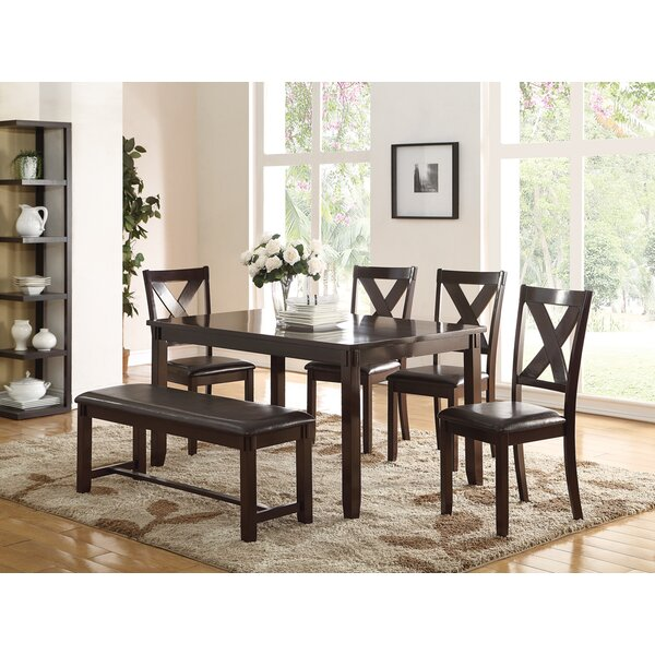 Seten 6 Piece Solid Wood Dining Set by Alcott Hill