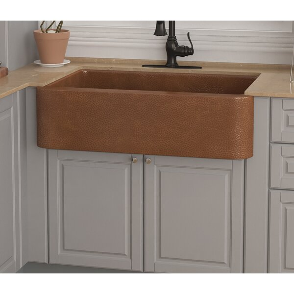 Olive 33 x 23 Farmhouse Kitchen Sink with Basket Strainer and Basin Grid by ANZZI