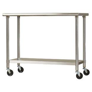 Modern Kitchen Islands Carts AllModern - 6 foot stainless steel prep table