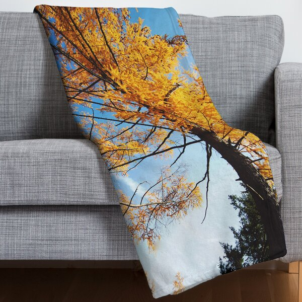 The Autumn Sky Throw Blanket by East Urban Home