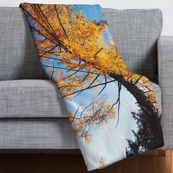 The Autumn Sky Throw Blanket by East Urban Home