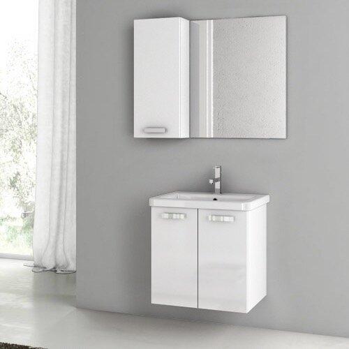 City Play 24 Single Bathroom Vanity Set with Mirror