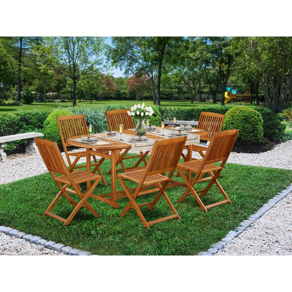 Jarvis 7 Piece Patio Dining Set by Longshore Tides