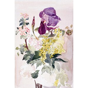 'Flower Piece with Iris, Laburnum, and Geranium' by Edouard Manet Graphic Art Print by East Urban Home