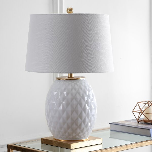 Knorr LED Glass/Metal 26 Table Lamp by Mercer41