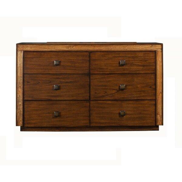 Wiltz Flashy MindiWood 6 Drawer Double Dresser by Loon Peak