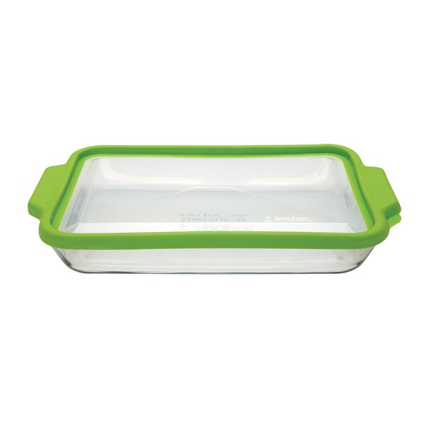 TrueFit Rectangular Glass Baking Dish with Lid (Set of 3) by Anchor Hocking