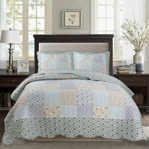 Humiston Printed Pre-Washed Reversible Quilt Set