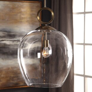 large glass pendant light entryway entrada large blown glass light led bell pendant light wayfair