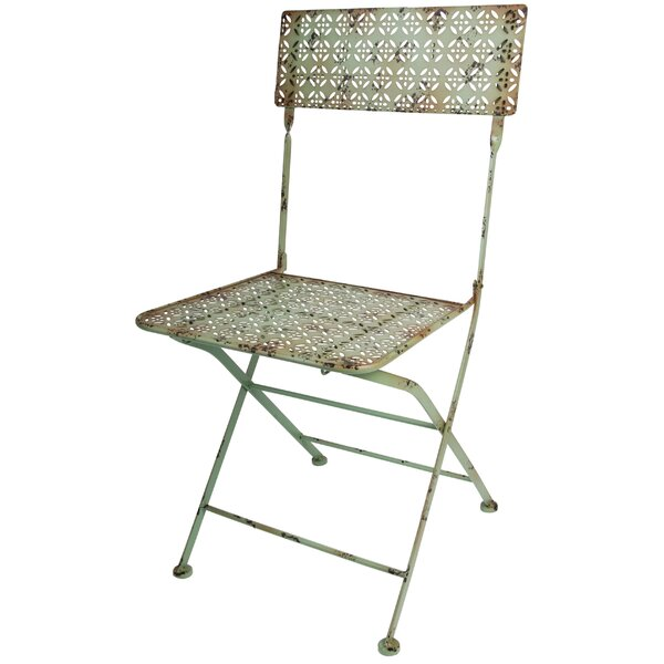 Industrial Heritage Folding Patio Dining Chair by EsschertDesign