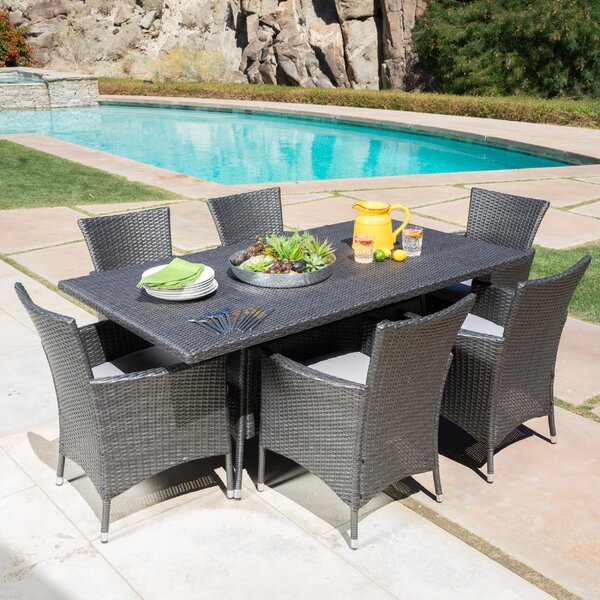 Bondy 7 Piece Dining Set with Cushions by Brayden Studio